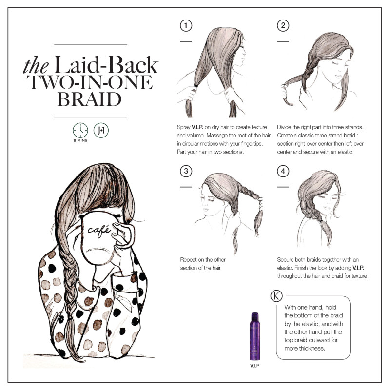 relaxed braid styles