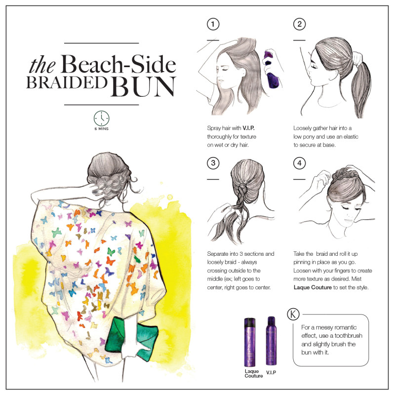 how-to bun braid