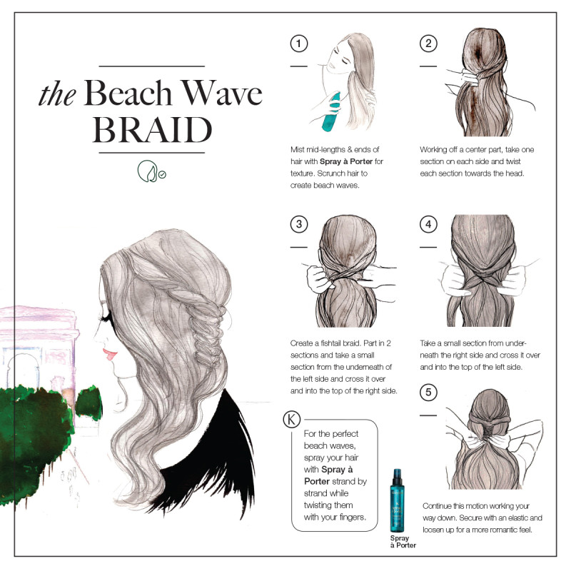 braided hair beach wave style