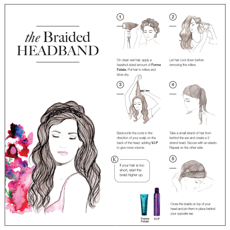 braided headband style tutorial