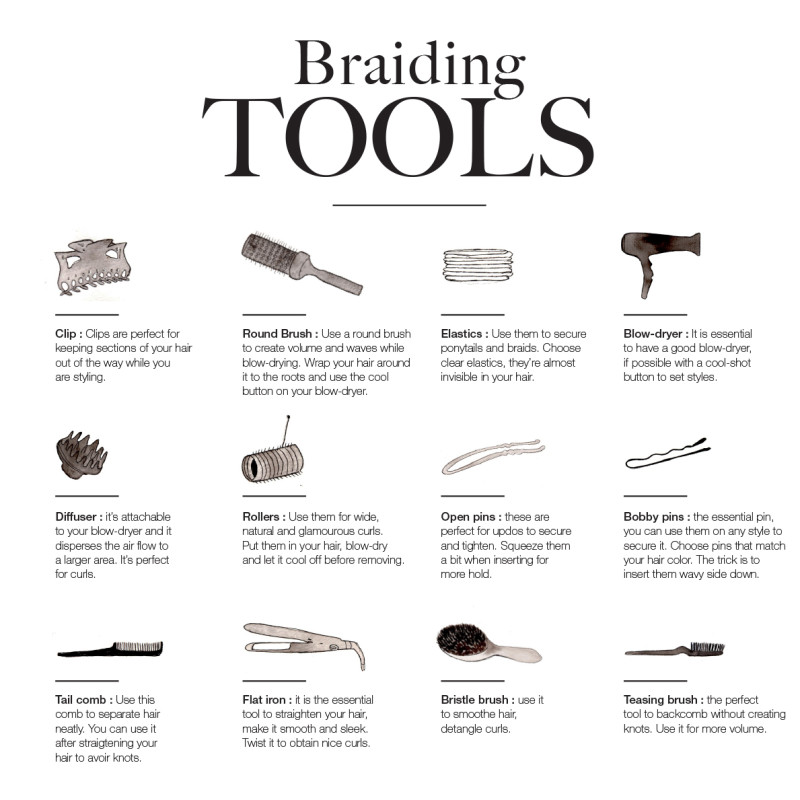tools for braiding hair